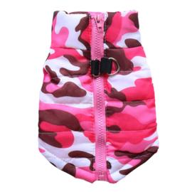 Camouflage bodywarmer | roze |  XS