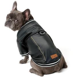 DIDOG lederlook hondenjas zwart   S, M, L, XXL