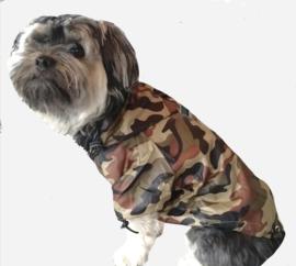 Honden regenjas camouflage DROOLINGDOG   XS, S, M