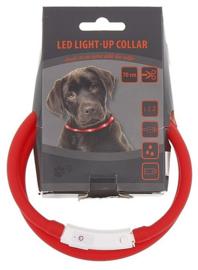 Oplaadbare LED halsband hond. Usb