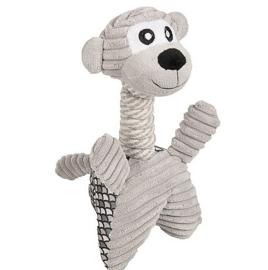 Pluche hondenspeelgoed met touw Eliot aap 30cm
