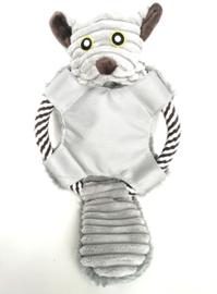 Hondenspeelgoed muis met touw en geluiden 33cm