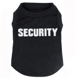 Hondenshirt SECURITY | Zwart | XS, S, M
