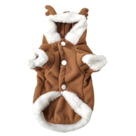 Fleece hoodie rendier   M