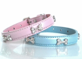 FRIENDLY PET metallic shine glitterbones halsband