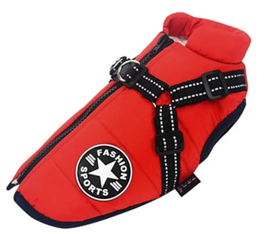 FASHION SPORTS 2-in 1 honden bodywarmer met harnas | rood |  S, L,  XXL