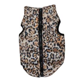 Bodywarmer in luipaard print    XS, M, L, XL