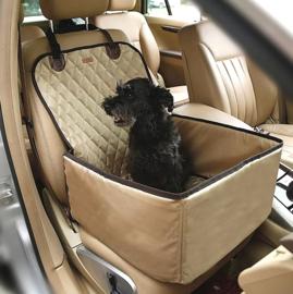 Honden autostoel Trevor | Khaki | 45x45x58cm