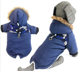 DRESSPET Stoere hondenjas / winterjas hond | blauw | S, M, L, XL, XXL