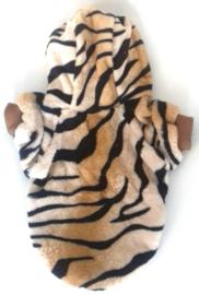 Fleece vestje tijgerprint | L, XXL
