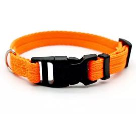 Oranje honden halsband