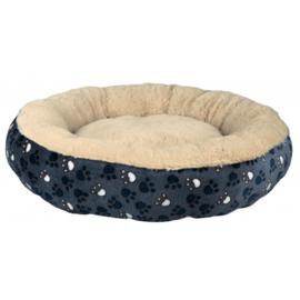 Ronde hondenmand TAMMY | blauw / beige | 50cm