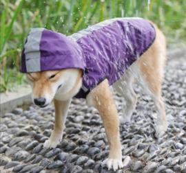 Regenjas  hond / hondenjas | Paars|  S, M, L, XL, XXL, XXXL