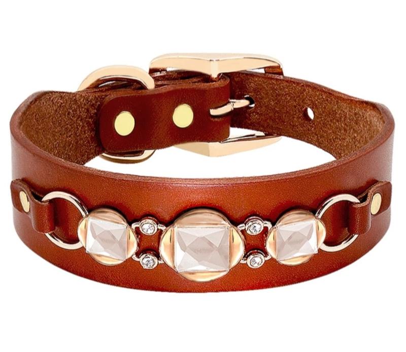 Leren honden halsband bruin | 45cm