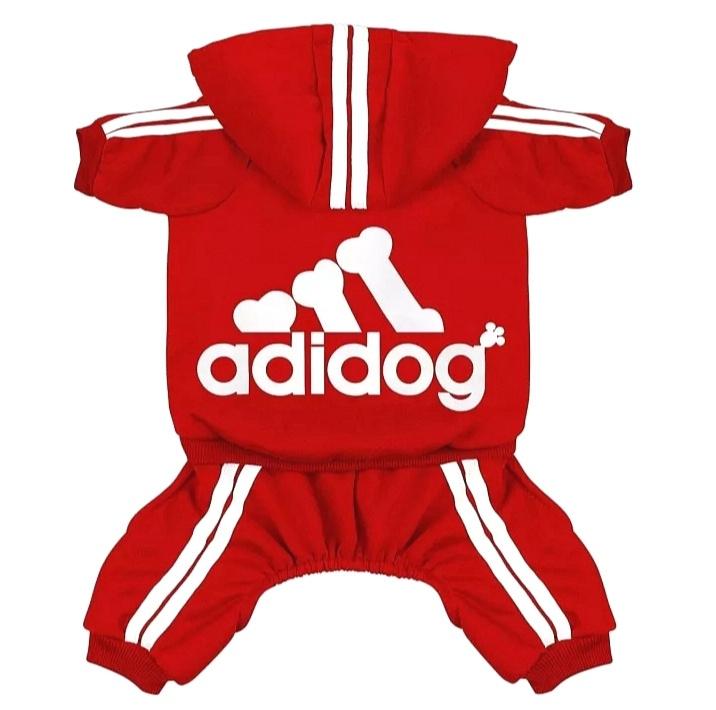 Adidog honden onesie rood | S