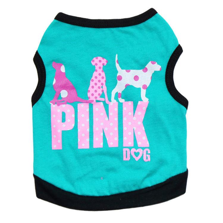 PINK DOG mouwloos honden shirt |  L