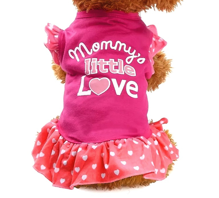 "Hondenjurkje ""Mommy's little love"" 