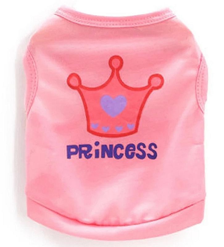 "hondenshirtje ""Princess"" lichtroze  | XS, S, M, L"