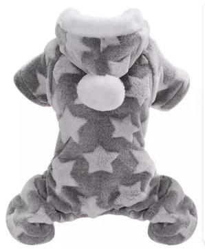 Honden onesie / jumpsuit fleece / pyjama   grijs   L, XL