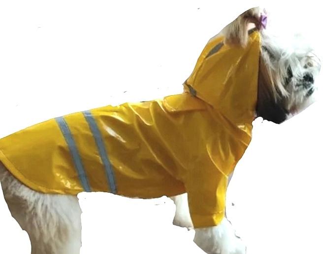 Regenjas hond geel  M, L, XL