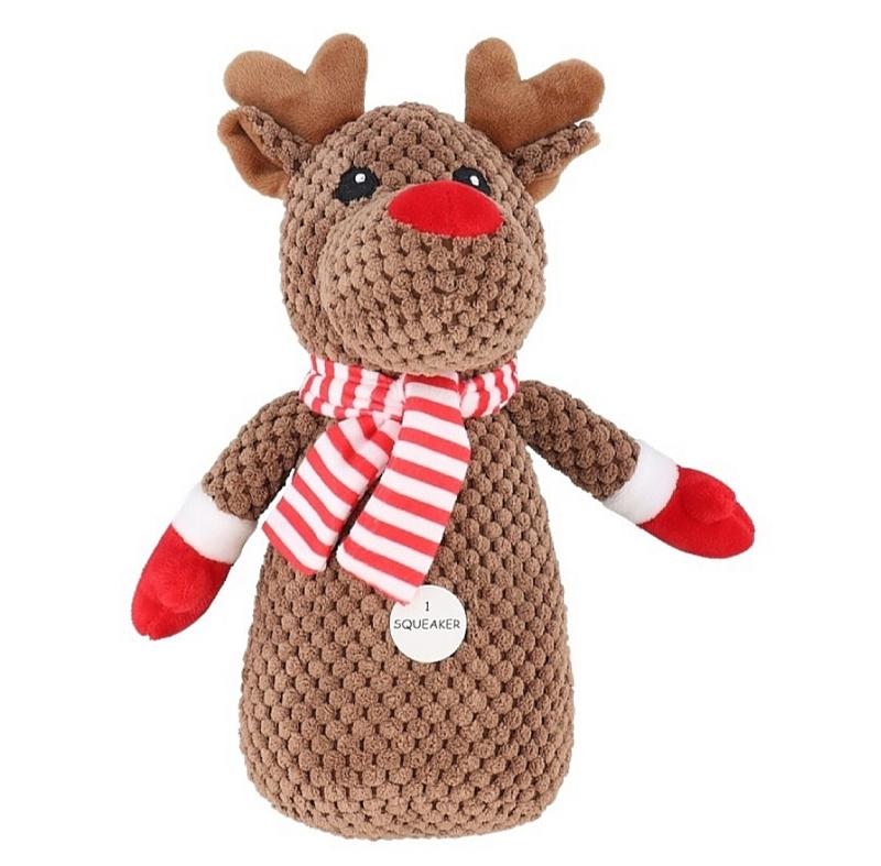 """Kerst speelgoed hond """" Rendier """"  23cm"""