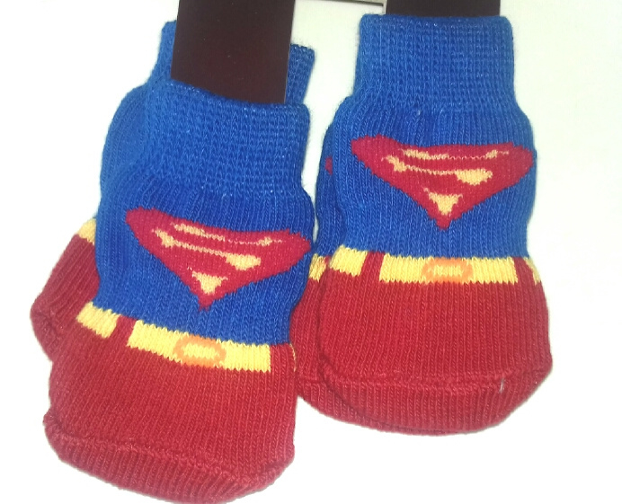 Hondensokjes anti-slip SUPERMAN | S, M