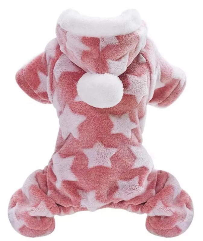 Honden onesie / jumpsuit fleece / pyjama | roze |  L, XL, XXL