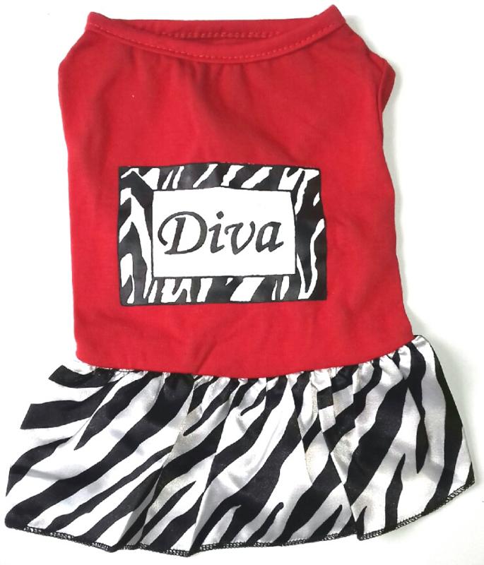 "hondenjurkje ""Diva""   rood   XS, L"