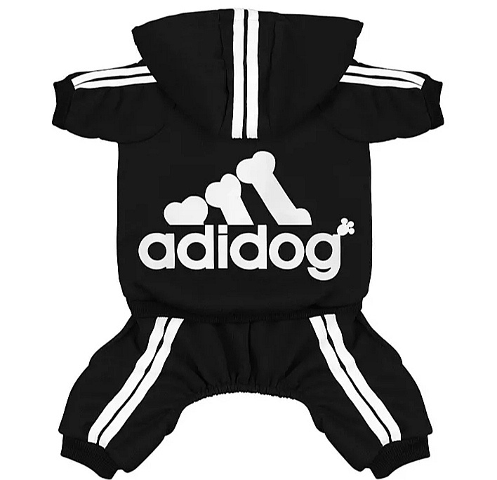 Adidog honden onesie zwart   S, L, XXL