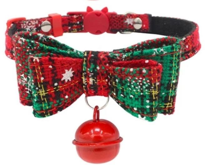 Kerst halsbandje met bel | 14-24cm
