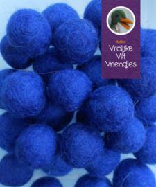 Wolbal blauw ongeveer 15 mm