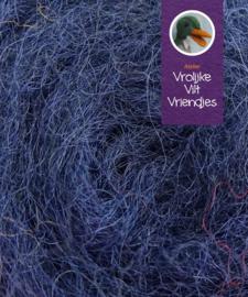 Gekaarde bheda wol donkerblauw