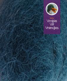 Gekaarde bheda wol zeegroen