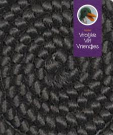 Wolcrepe  zwart