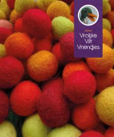 Wolballen geel-roodmix