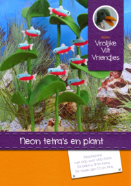 Neon tetra's  en plant