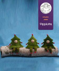 Drie kerstboomboefjes