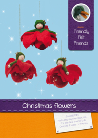 Chrismas flowers wool balls