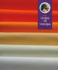 Wolvilt pakket oranje- wit tinten