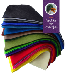Wolvilt compleet kleurenpakket 121 lapjes