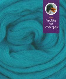 Lontwol merino turquoise donker