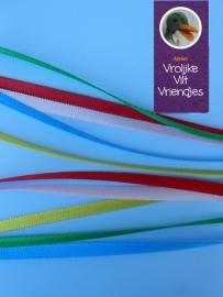 Satijnlint in 5 kleuren