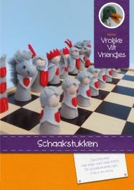 Patroonblad Schaakstukken