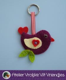 Love bird sleutelhanger
