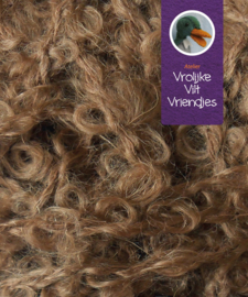 Poppenharen  Mohair bruin