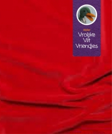 Nickey velours rood