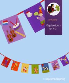 Materiaalpakket Verjaardagsliedjes- vlaggen zonder patroon