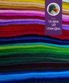 Wolvilt pakket 60 lapjes kleurenkaart 2