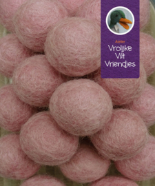 Wolbal oud roze