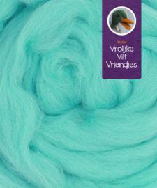 Lontwol merino lichtblauw-mint